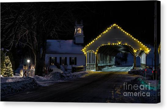 Christmas In Stark New Hampshire Canvas Print
