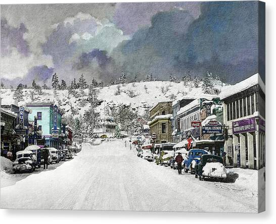 Christmas In Susanville, 1953 Canvas Print