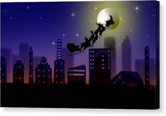 Christmas Landscape IIi Canvas Print