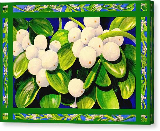 Mistletoe Canvas Print - Christmas Mistletoe by Janis Grau