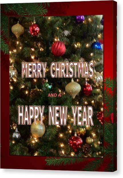 Christmas New Year Card Canvas Print
