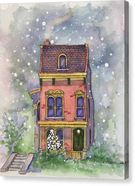Christmas On North Hill Canvas Print