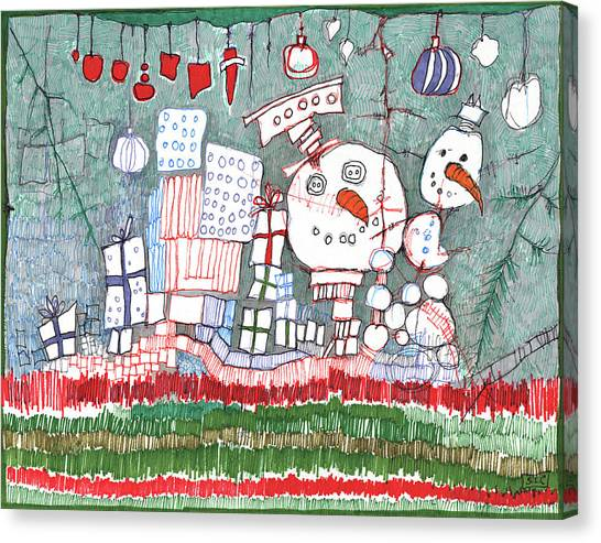 Christmas On The Edge Canvas Print