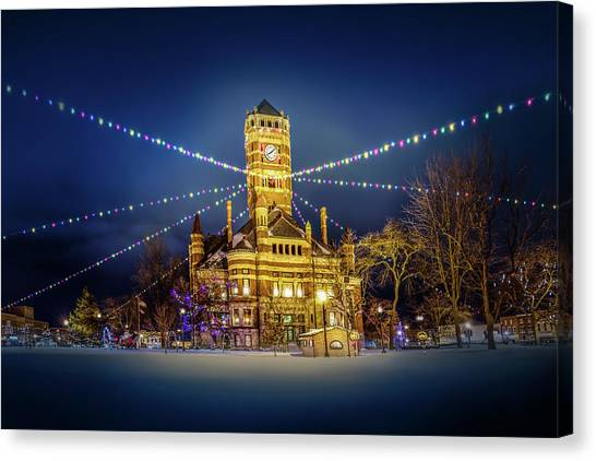 Canvas Print featuring the photograph Christmas On The Square 2 by Michael Arend