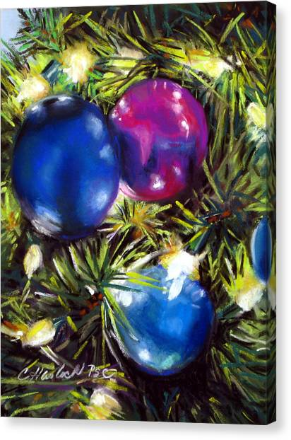 Christmas Ornaments Canvas Print by Carole Haslock