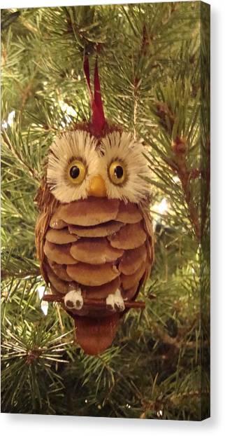 Christmas Owl Canvas Print by Nikita Zabowski