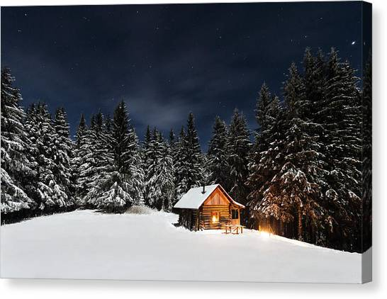 House Canvas Print - Christmas by Paul Itkin