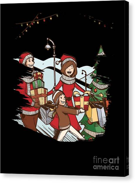 Canvas Print - Christmas Scene by Thomas Larch
