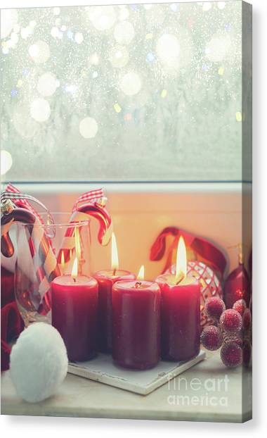 Fire Ball Canvas Print - Christmas Advent Scene by Anastasy Yarmolovich