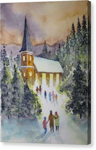 Christmas Service Canvas Print