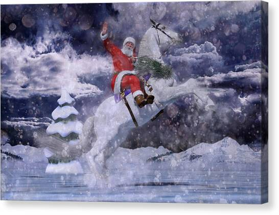 Mountain View Canvas Print - Christmas Spirit by Betsy Knapp