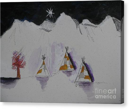 Christmas Teepees Canvas Print by James SheppardIII