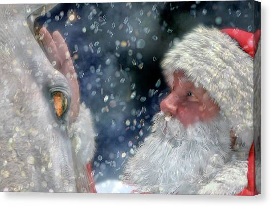 Winter Fun Canvas Print - Christmas Touch by Betsy Knapp