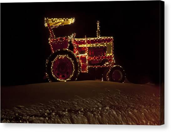 Christmas Tractor   Canvas Print