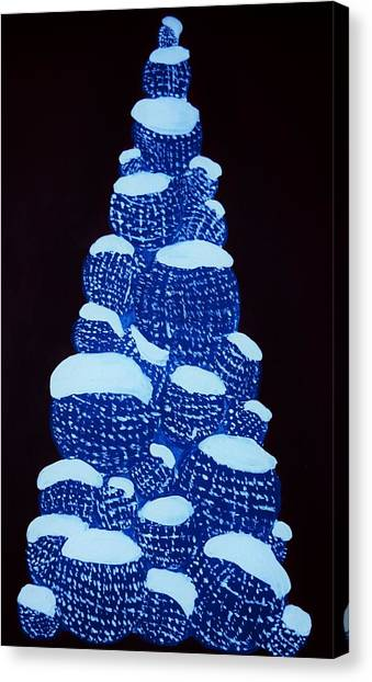 Christmas Tree Light Up Canvas Print by Nicole  Cris