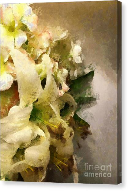 Christmas White Flowers Canvas Print