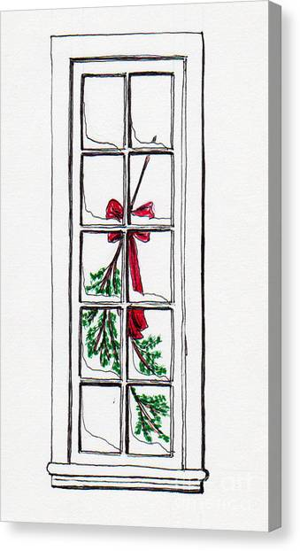 Christmas Window Canvas Print