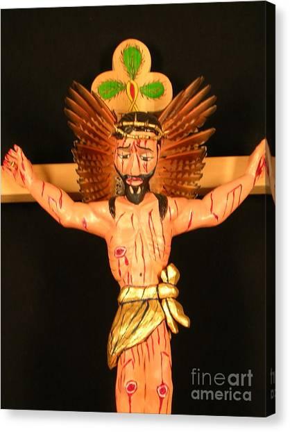 Christo Crucificado Canvas Print by George Chacon