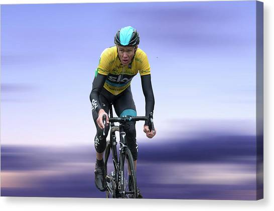 Canvas Print - Christopher Froome 3 by Smart Aviation