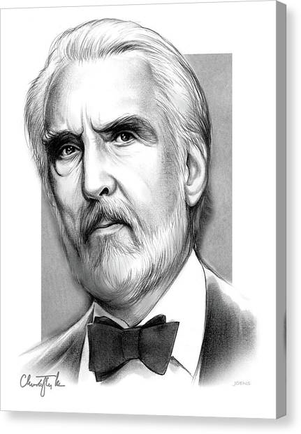 British Canvas Print - Christopher Lee by Greg Joens