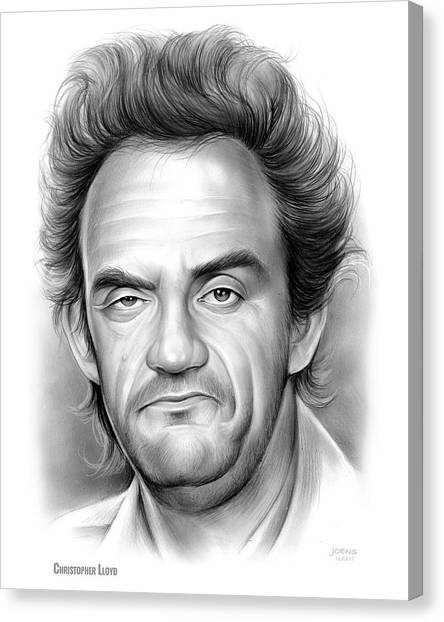 Back To The Future Canvas Print - Christopher Lloyd by Greg Joens