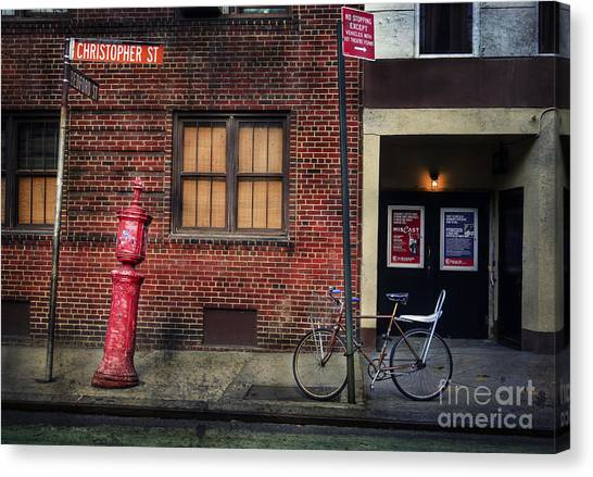 Christopher St. Bicycle Canvas Print