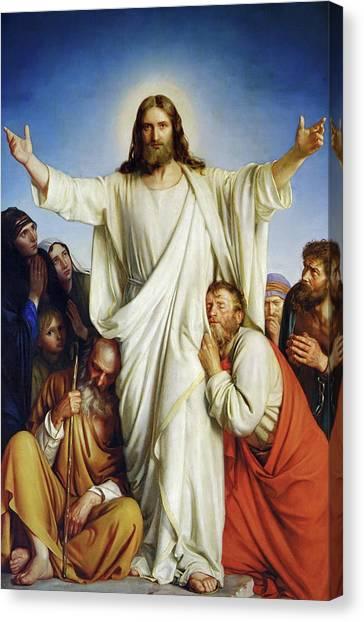 Holy Bible Canvas Print - Christus Consolator by Carl Heinrich Bloch