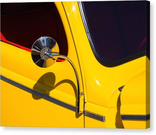 Chrome Mirrored To Yellow Canvas Print