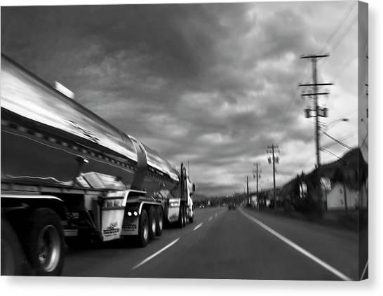 Chrome Tanker Canvas Print