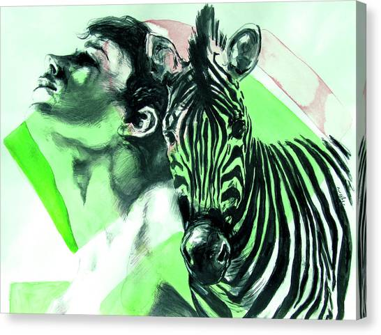 Chronickles Of Zebra Boy   Canvas Print
