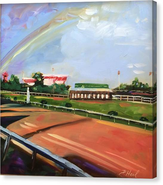 University Of Louisville Canvas Print - Chruchill Downs Sky by Donna Heil