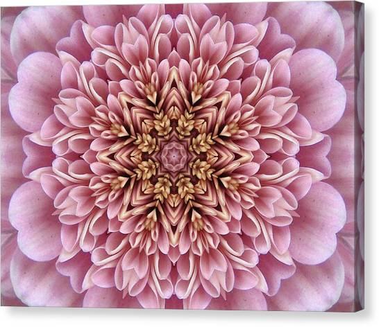 Chrysanthemum Kaleidoscope Canvas Print