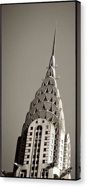 Canvas Print featuring the photograph Chrysler Building New York City by Juergen Held