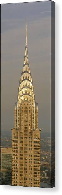 Historic Site Canvas Print - Chrysler Building New York Ny by Panoramic Images