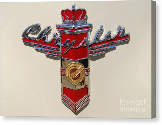 Chrysler Hood Logo Canvas Print