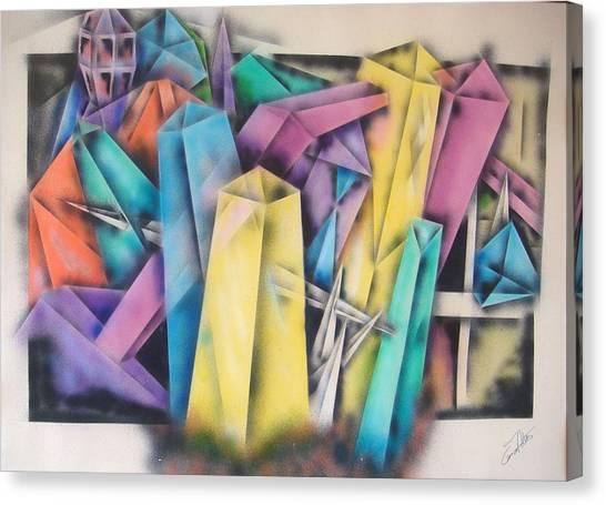 Chrystals Canvas Print