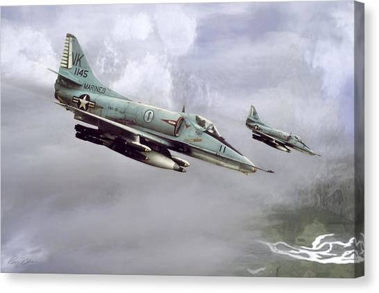 Vietnam War Canvas Print - Chu Lai Skyhawks by Peter Chilelli