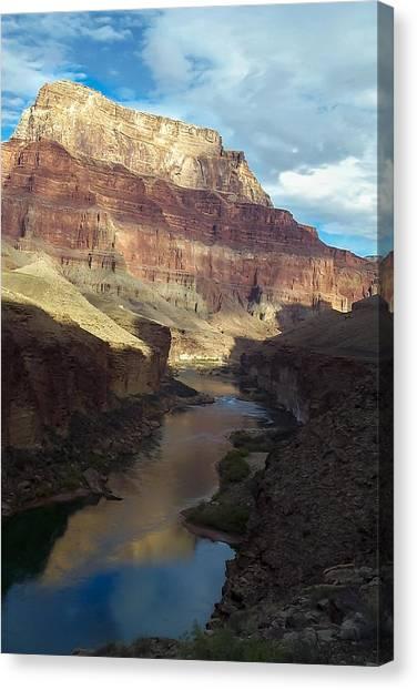 Chuar Butte Colorado River Grand Canyon Canvas Print