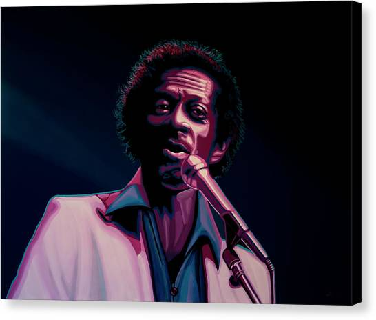 Rhythm And Blues Canvas Print - Chuck Berry by Paul Meijering