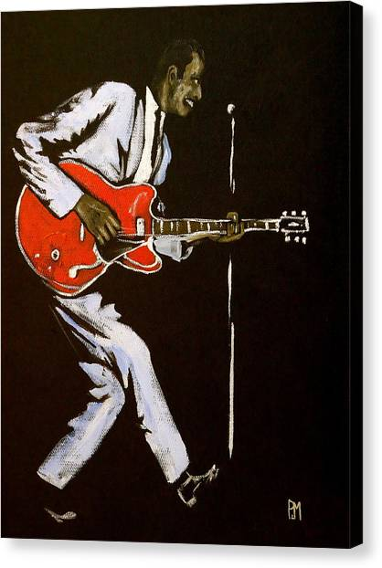 Chuck Berry Canvas Print by Pete Maier