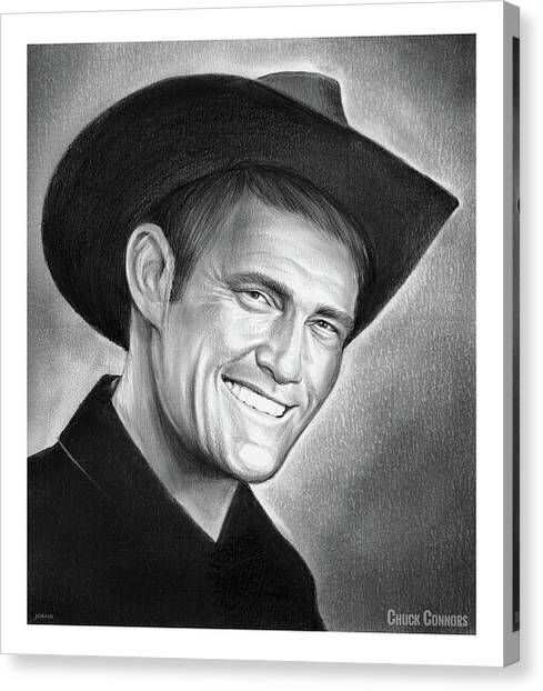 Cowboy Canvas Print - Chuck Connors by Greg Joens