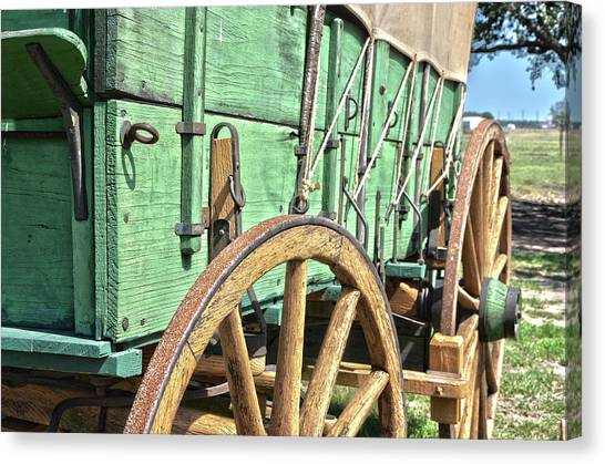 Chuck Wagon Wheels Canvas Print