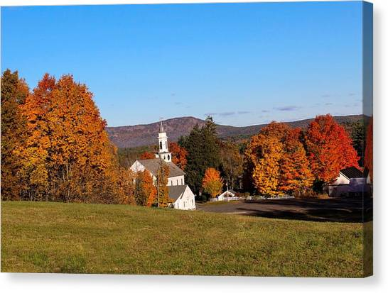 Church And Mountain Canvas Print