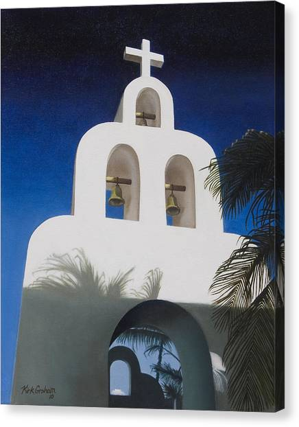 Church At Playa Del Carmen Canvas Print by Kirk Graham
