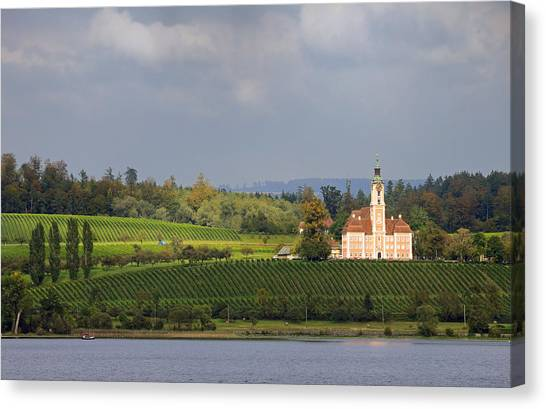Church Birnau Lake Constance In Great Landscape Canvas Print
