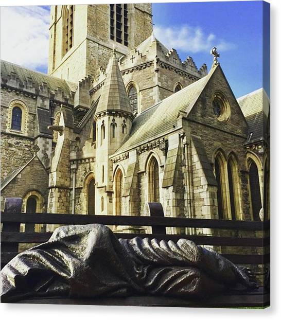 Gothic Art Canvas Print - #church #cathedral #christianity by Christos Mouzeviris