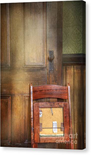 Church Chair Canvas Print