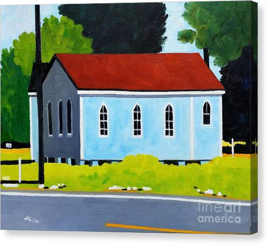 Church, Dailsville Rd Canvas Print by Lesley Giles