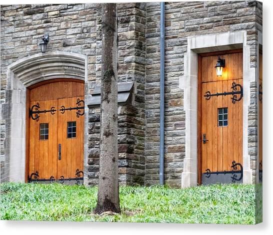 Mvc Canvas Print - Church Doors Of Loyola University Of Maryland Chapel by Gina Sullivan