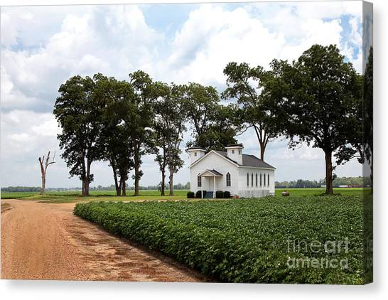 Canvas Print featuring the photograph Church From The Help Movie In Mississippi by T Lowry Wilson